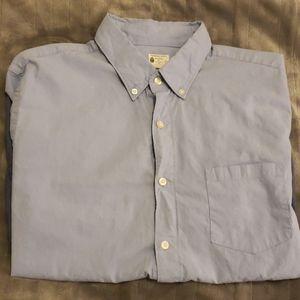 Two tone pocket blue J.Crew Shirt, Large(EUC)